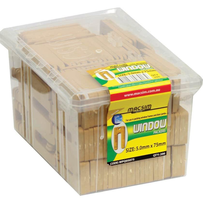 Macsim Window Packers Ochre 5.0 x 75mm - 200 Pack