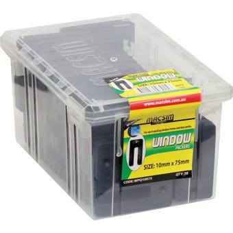 Macsim Window Packers Black 10mm x 75mm - Box of 70
