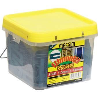 Macsim Window Packers Blue 1.5 x 75mm - Box of 800