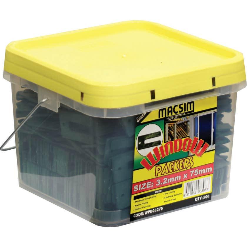 Macsim Window Packers 3.2mm x 75mm Green - Box of 500