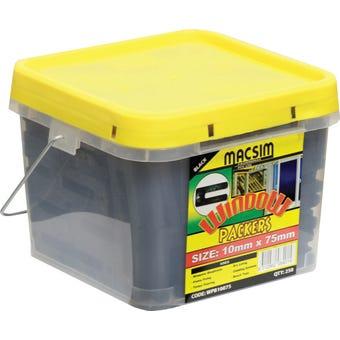 Macsim Window Packers Black 10 x 75mm - Box of 250