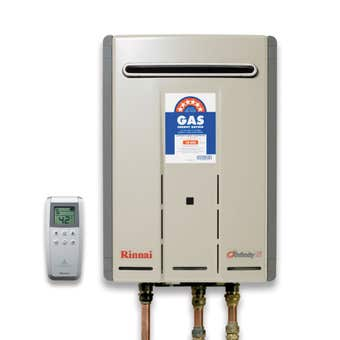 Rinnai Infinity Touch Continuous Flow Hot Water System Natural Gas 26L