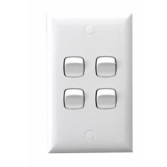 HPM 4 Gang Wall Switch White