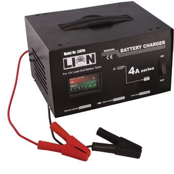 Lion Metal Skin Battery Charger 4 Amp