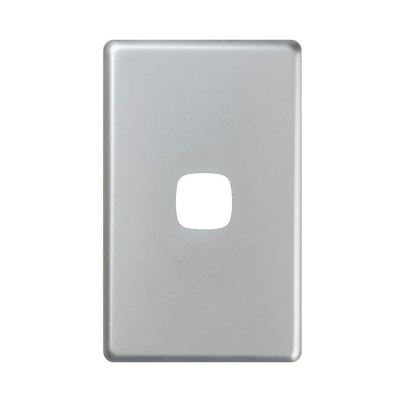 HPM Excel Single Light Switch Coverplate Matt Silver