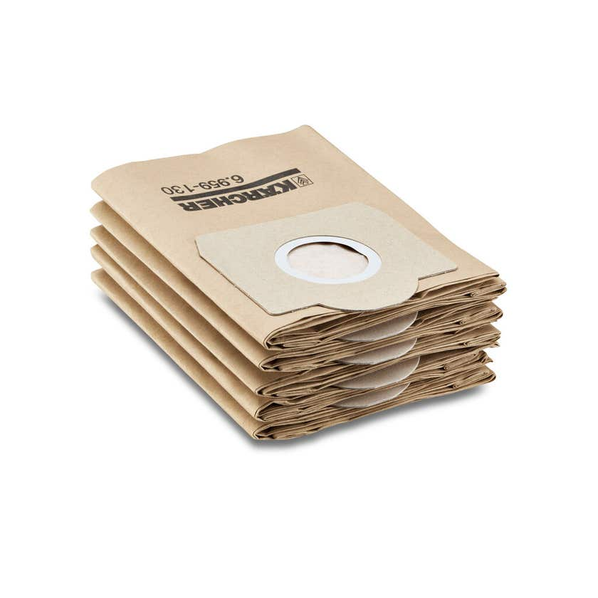 Karcher WD3 Wet & Dry Vac Paper Filter Bags - 5 Pack