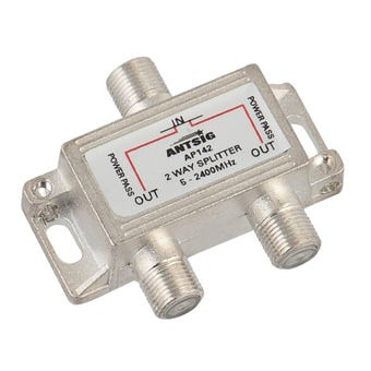 Antsig 2 Way F-Connector Splitter