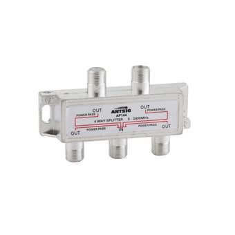 Antsig 4 Way Splitter with F Connector Socket