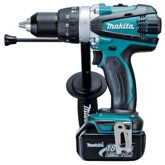 Makita 18V Hammer Driver Drill Kit DHP458RFE