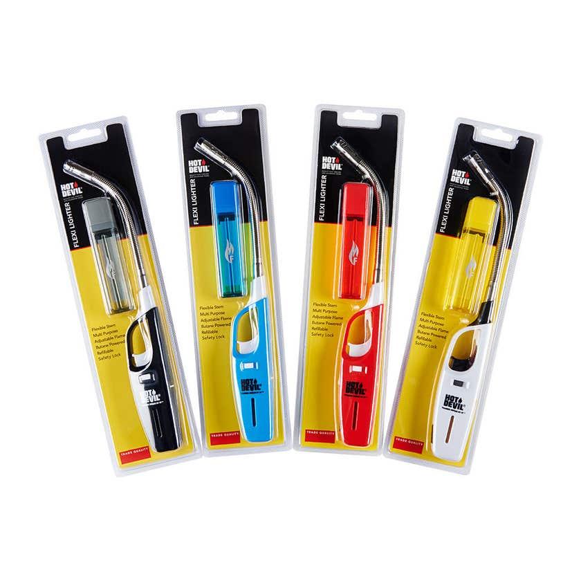 Hot Devil Flexi Lighter Assorted Colours