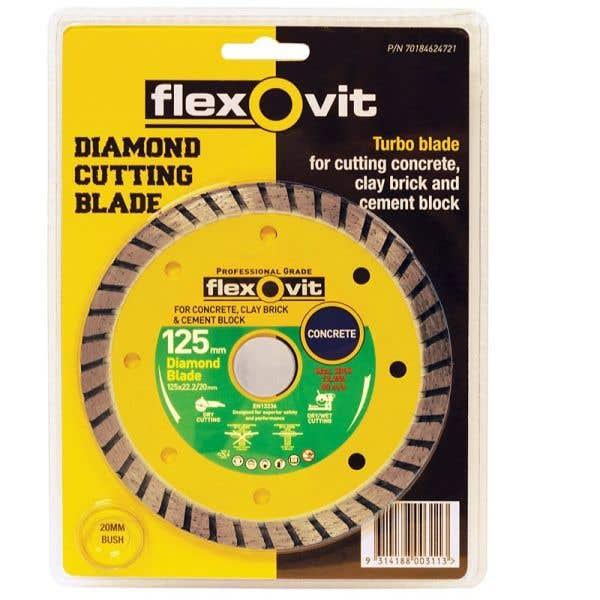 Flexovit Turbo Diamond Blade 125mm
