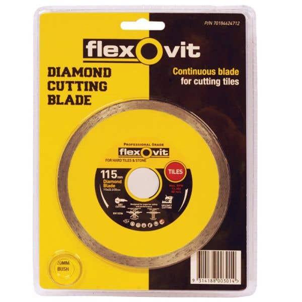 Flexovit Turbo Diamond Blade Tile 115mm
