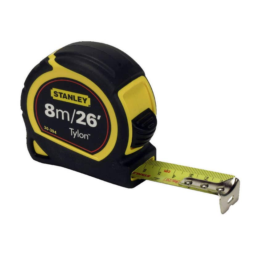 Stanley Tylon Tape Measure Metric and Imperial 8m