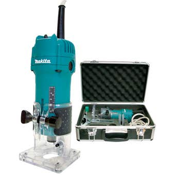 Makita 530W Laminate Trimmer with case 6.35mm