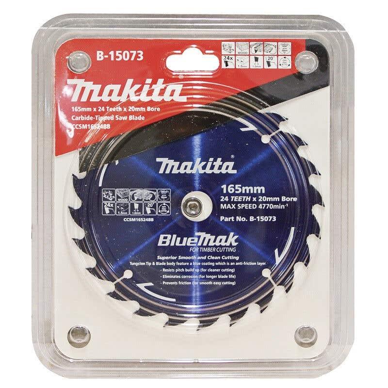 Makita Saw Blade BlueMak 165 x 20mm bore x 24T