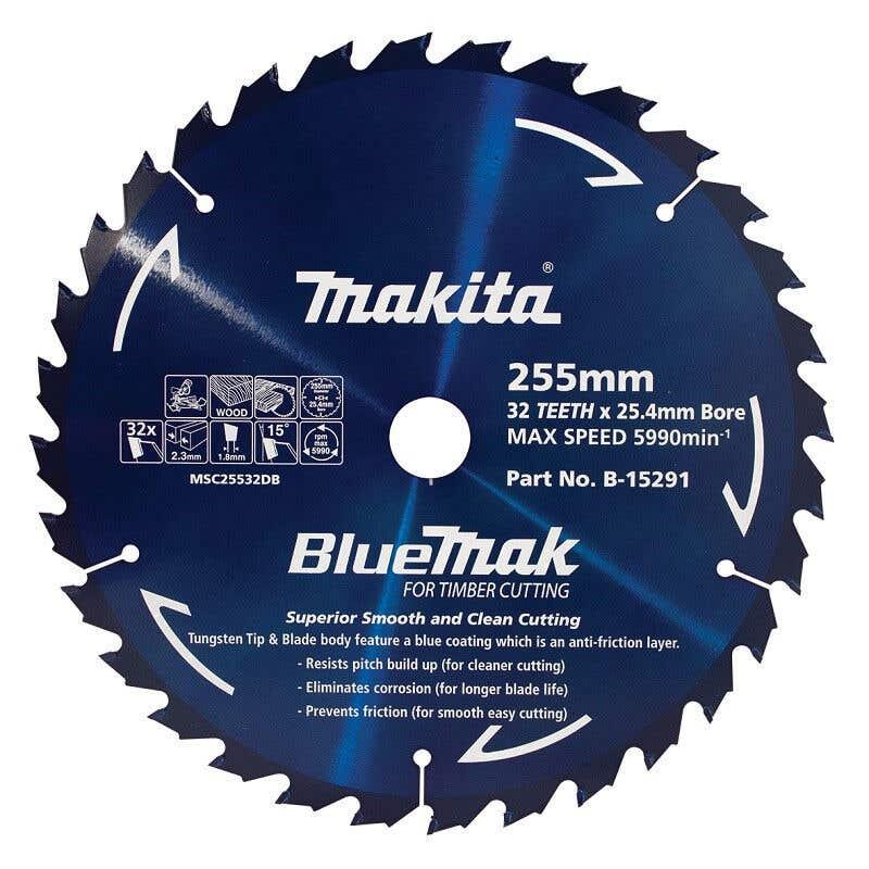 Makita Saw Blade BlueMak 255 x 25.4mm bore x 32T