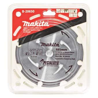 Makita PCD Fibre Cement Saw Blade 4T 185 x 20mm