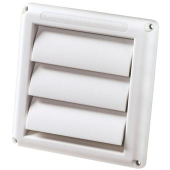 Deflecto Gravity Wall Vent White 125mm