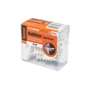 Ramset WallMate Twist-N-Lock Nylon - 20 Pack