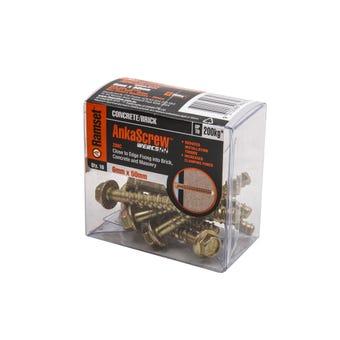 Ramset Ankascrew Zinc 6 x 50mm - 10 Pack