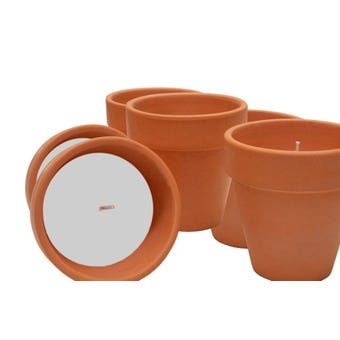 Waxworks Citronella Candle Pot Terracotta - 3 Pack