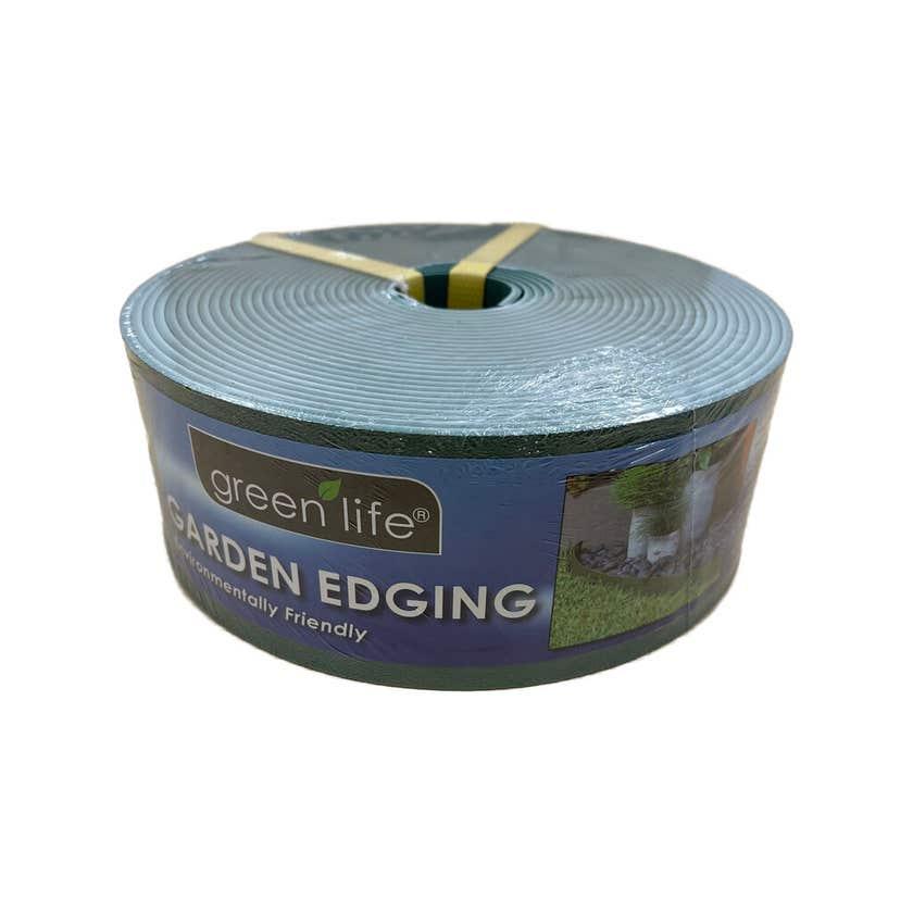 Greenlife Garden Edging Plastic Eucalypt Green 10m x 75mm