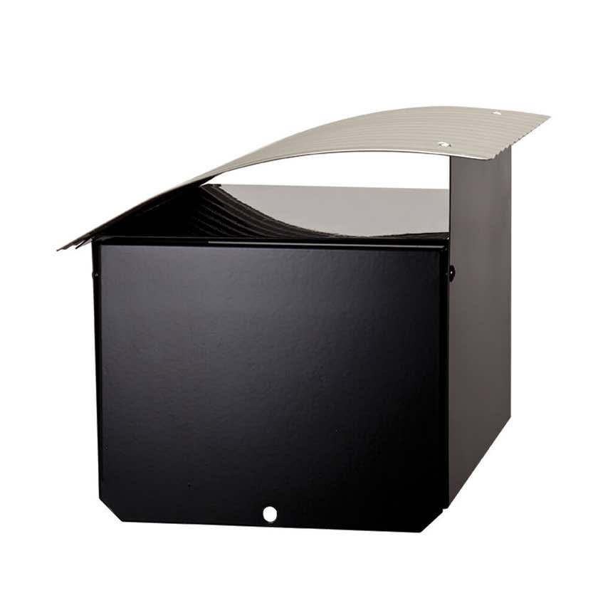 Sandleford Ripple Post Mount Mailbox Black/Silver