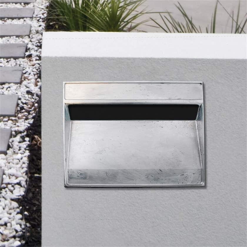 Sandleford Lazio Rear Opening A4 Letterbox Unpainted