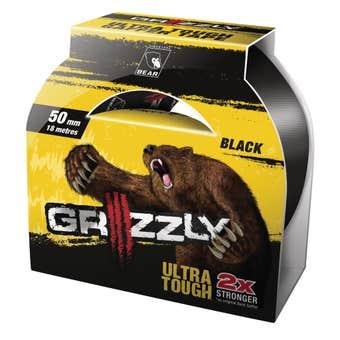 Grizzly Ultra Tough Gaffer Tape Black 50mm x 18m