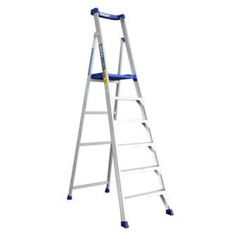 Bailey P150 6 Step Aluminium Platform Ladder 150kg Industrial