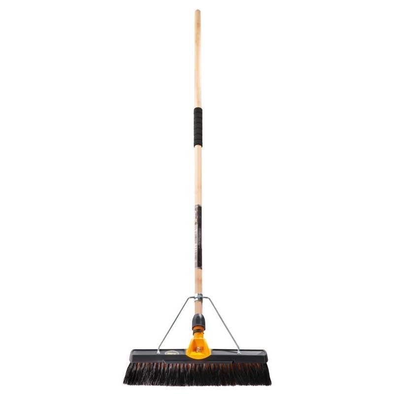 Oates Broom Medium Stiff Titanium 450mm