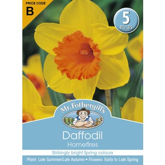 Mr Fothergill's Bulbs Daffodil Homefires 5 Bulbs