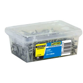 Otter Clout Galvanised Nail 25x2.8mm 1kg