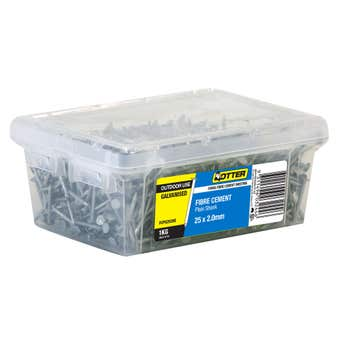 Otter Galvanised Fibre Cement Nail 25x2mm 1kg