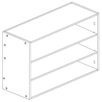 Principal Free Flap Wall Cabinet 900mm