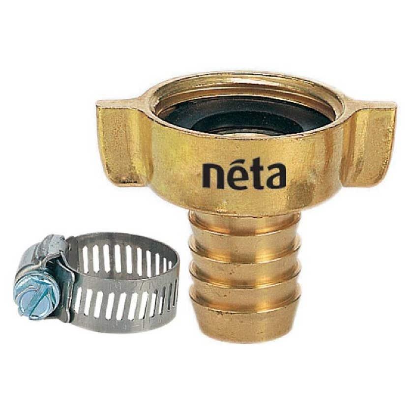 """Neta Brass Tap Adaptor Barb 1"""" x 18mm"""
