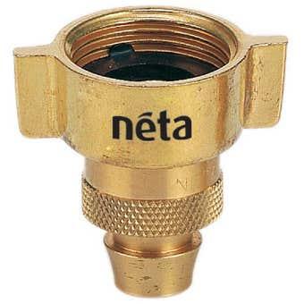 "Neta Winged Brass Screw Tap Adaptor 3/4"" x 12mm"