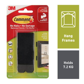 Command Picture Hanging Strips Large Black - 4 Pack