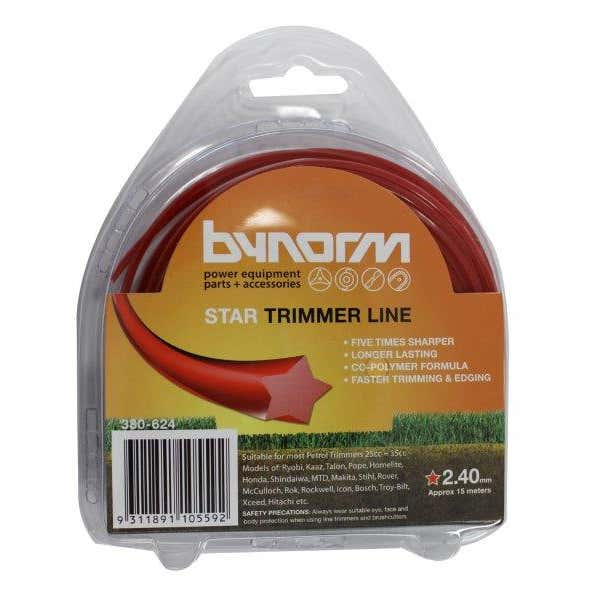 Bynorm Star Trimmer Line Red 2.4mm X 15M