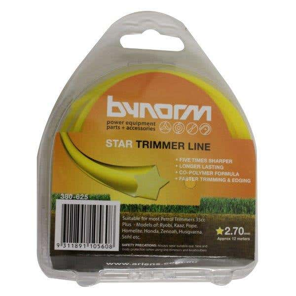 Bynorm Star Trimmer Line Yellow 2.7mm X 12M