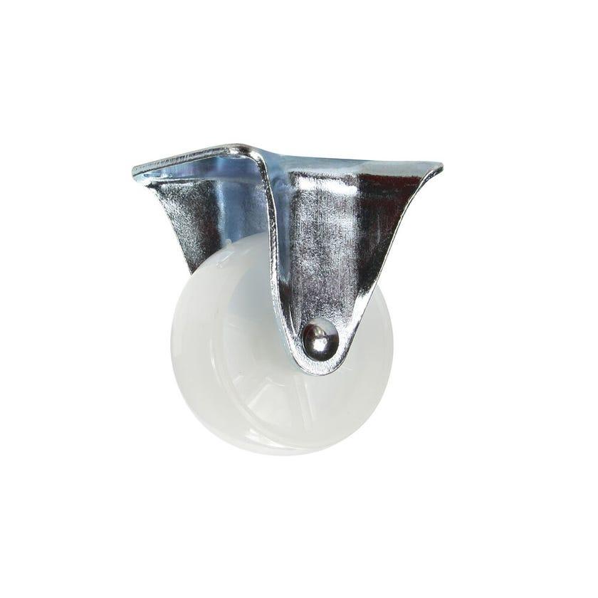 Cold Steel Nylon Fixed Castor White 50mm