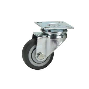 Cold Steel Rubber Swivel Castor Grey 50mm