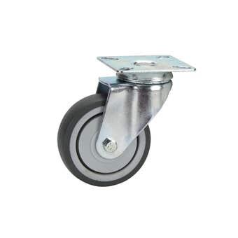 Cold Steel Rubber Swivel Castor Grey 75mm