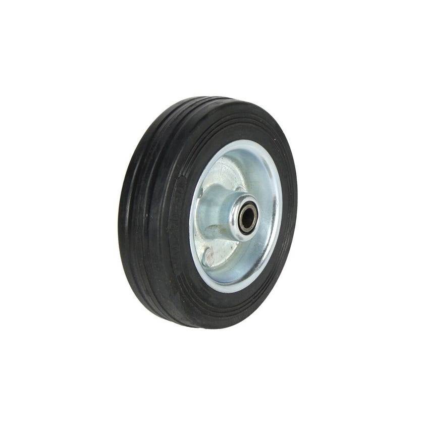 Cold Steel Rubber Wheel with Steel Centre 100mm