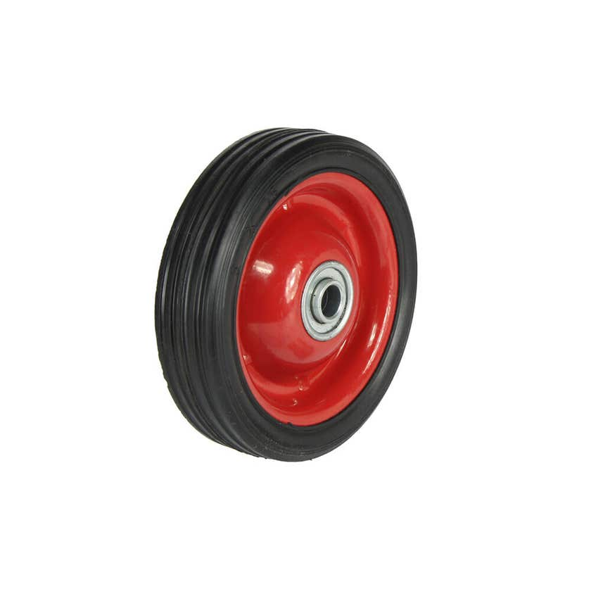 Cold Steel Rubber Wheel with Red Steel Centre 125mm