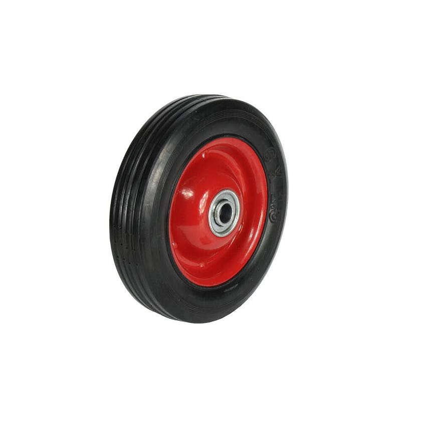 Cold Steel Rubber Wheel with Red Steel Centre 150mm