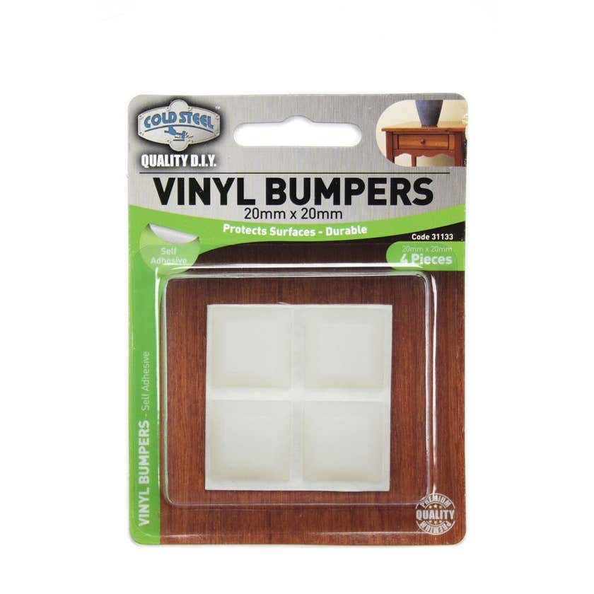 Cold Steel Vinyl Bumpers Square Opaque 20mm - 4 Pack