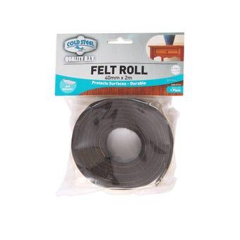 Cold Steel Felt Roll Brown 40mm x 2m