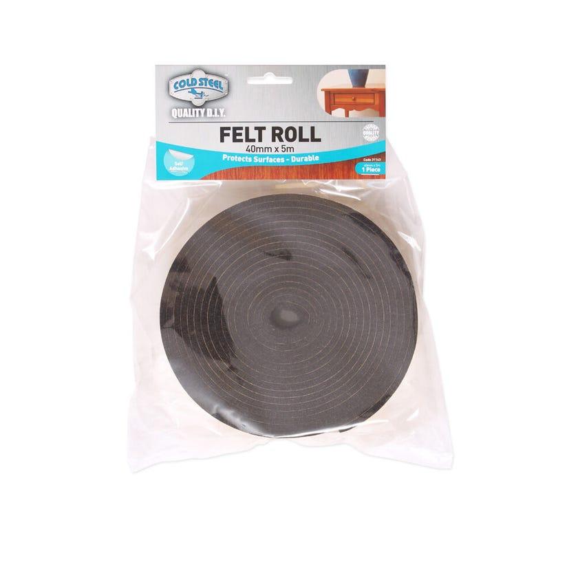 Cold Steel Felt Roll Dark Brown 40mm x 5m