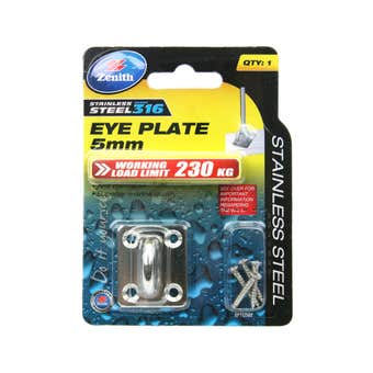 Zenith Square Eye Plates Stainless Steel 5mm - 1 Pack
